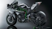 2017 Kawasaki Ninja H2R rear three quarters studio image