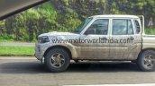 2017 Mahindra Scorpio Getaway (facelift) left side spy shot