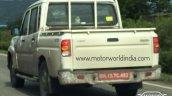 2017 Mahindra Scorpio Getaway (facelift) rear three quarters spy shot