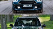 2017 Mini Countryman vs 2014 Mini Countryman front