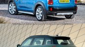2017 Mini Countryman vs 2014 Mini Countryman rear three quarter