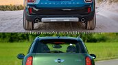 2017 Mini Countryman vs 2014 Mini Countryman rear