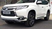 2017 Mitsubishi Shogun Sport front three quarters spy shot