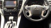 2017 Mitsubishi Shogun Sport interior dashboard driver side spy shot
