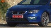 2017 Seat Leon Cupra (facelift) front fascia spy shot