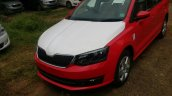 2017 Skoda Rapid facelift front Red