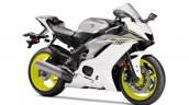 2017 Yamaha YZF-R6 Intensity White-Matte Silver front three quarters right side