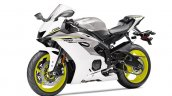 2017 Yamaha YZF-R6 Intensity White-Matte Silver front three quarters
