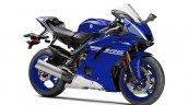 2017 Yamaha YZF-R6 Team Yamaha Blue front three quarters right side
