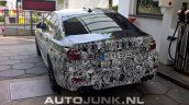 2018 BMW M5 rear three quarters spy shot