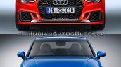 Audi RS 3 Sedan vs. Audi A3 Sedan front
