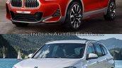 BMW X2 vs. BMW X1 front three quarter image