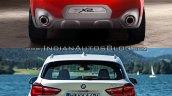 BMW X2 vs. BMW X1 rear image