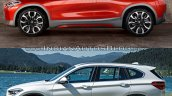 BMW X2 vs. BMW X1 side image