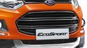 Ford EcoSport Black Signature Edition black grille