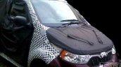 Mahindra e2o 4-door front spied testing
