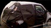 Mahindra e2o 4-door rear spied testing
