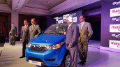 Mahindra e2o Plus (4-door e2o) front quarter launched