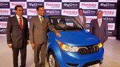 Mahindra e2o Plus (4-door e2o) front three quarter launched