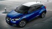 Nissan Kicks blue white roof dual tone