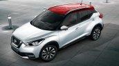 Nissan Kicks silver red roof dual tone
