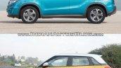 Suzuki Vitara vs Maruti Suzuki Vitara Brezza side