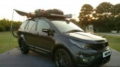 Tata Hexa TUFF black front three quarter accessories