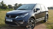 Tata Hexa XT MT front quarter Review