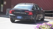 Volvo S90 rear three quarters spy shot