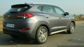 2016 Hyundai Tucson rear three quarter dynamic Review