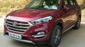 2016 Hyundai Tucson red front quarter Review