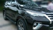 2016 Toyota Fortuner black front three quarter demo unit at dealership