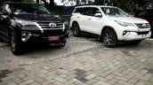 2016 Toyota Fortuner front demo units at dealership