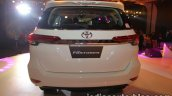 2016 Toyota Fortuner white rear launch