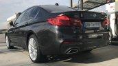 2017 BMW 5 Series 530d M Sport package rear three quarters