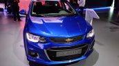 2017 Chevrolet Sonic Hatchback front at 2016 Bogota Auto Show