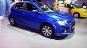 2017 Chevrolet Sonic Hatchback front three quarters at 2016 Bogota Auto Show