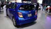 2017 Chevrolet Sonic Hatchback rear three quarters at 2016 Bogota Auto Show