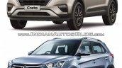 2017 Hyundai Creta vs. 2015 Hyundai Creta front three quarter comparo