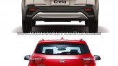 2017 Hyundai Creta vs. 2015 Hyundai Creta rear comparo