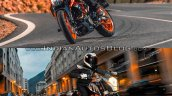 2017 KTM Duke 390 vs. 2013 KTM Duke 390 front three quarters
