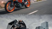 2017 KTM Duke 390 vs. 2013 KTM Duke 390 visual comparison