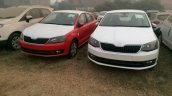 2017 Skoda Rapid red and white spied ahead of launch