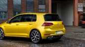 2017 VW Golf (facelift) rear three quarters leaked image