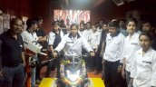 Bajaj Dominar 400 black front production commencement event