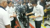 Bajaj Dominar 400 black front three quarters right side