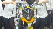 Bajaj Dominar 400 black front