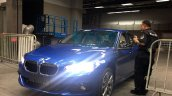 China-made BMW 1 Series sedan blue front photographed