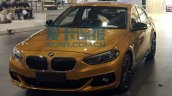 China-made BMW 1 Series sedan front quarter photographed