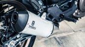 Husqvarna Vitpilen 401 white exhaust